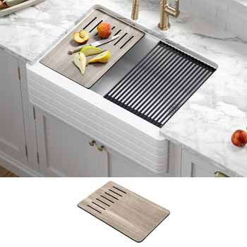 White - Lifestyle View + Cutting Board