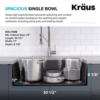 Spacious Single Bowl Info