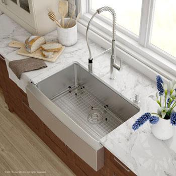 Kitchen Sink Set Overhead View - Chrome