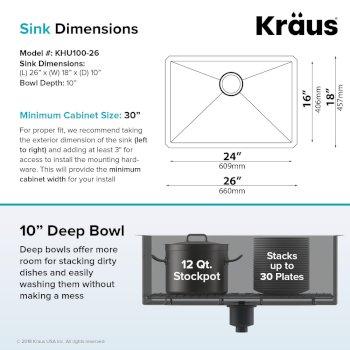 "26"" Sink Dimensions"