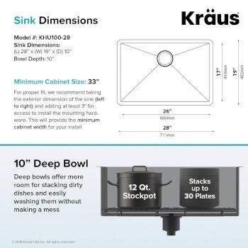 "28"" Sink Dimensions"