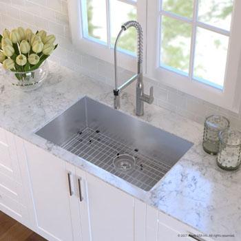 Kitchen Sink Set - Stainless Steel