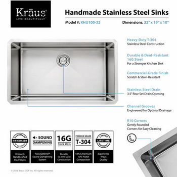 Kraus Stainless Steel Sink Specifications