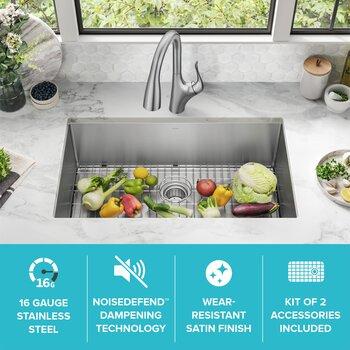 Kraus Bottom Sink Specifications