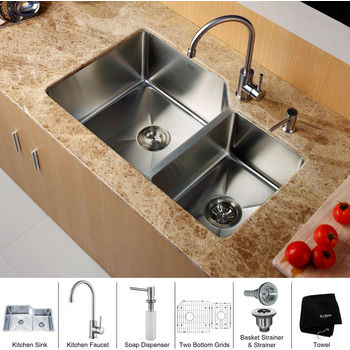 sink placement in kitchen kraus krs khu123 32 kpf2160 sd20 undermount 70 30 5284