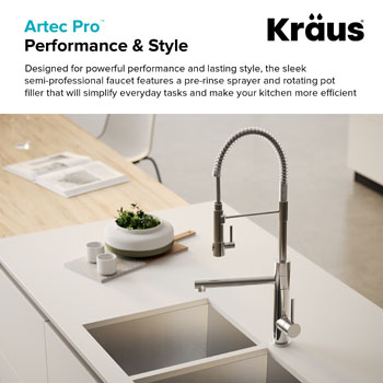2 Function Commercial Style Pre Rinse Kitchen Faucet With