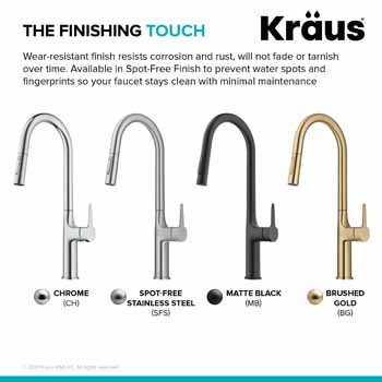 Kraus Oletto Kitchen Faucet Finish Types
