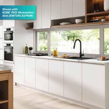 Kraus Matte Black Standard Oletto Kitchen Faucet Lifestyle View 3