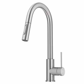 Kraus Stainless Steel Standard Oletto Kitchen Faucet Display View