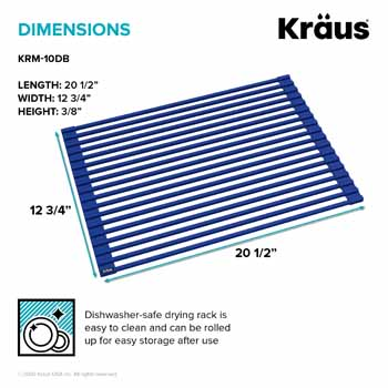 Kraus Dark Blue Drying Rack Dimensions