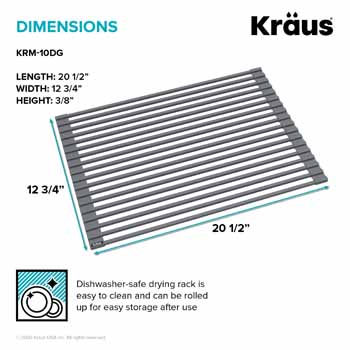 Kraus Dark Grey Drying Rack Dimensions