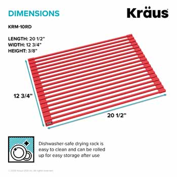 Kraus Red Drying Rack Dimensions