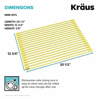 Kraus Yellow Drying Rack Dimensions