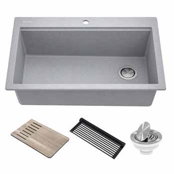 Kraus Grey Sink Display View