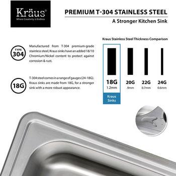 Kraus Stainless Steel Gauge Specifications