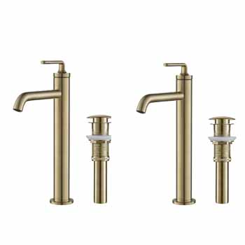 Brushed Gold - Faucet and Pop-up Drain