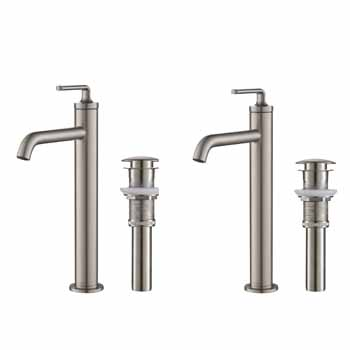 Spot-Free Stainles Steel - Faucet and Pop-up Drain