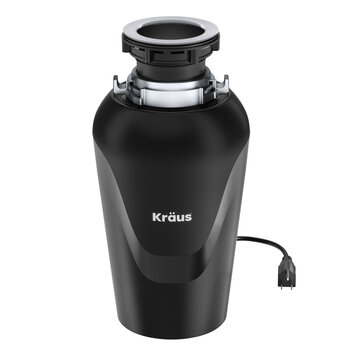 KRAUS WasteMate™Continuous Feed Garbage Disposalwith 3/4 HPUltra-Quiet Motorfor Kitchen SinkswithPower CordandFlangeIncluded