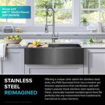 Gunmetal Stainless Steel -  Reimagined