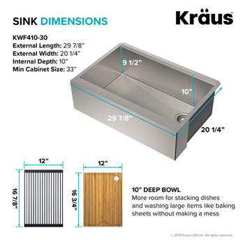 Stainless Steel - 30'' Dimensions
