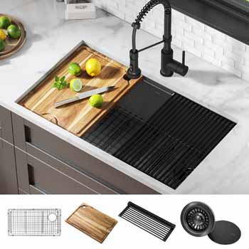 Gunmetal: 32'' Sink and Accessories