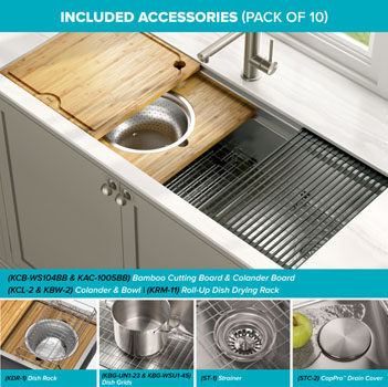 Sink and Included Accessories Details