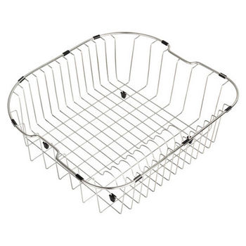 """Kraus Stainless Steel Rinse Basket for Kitchen Sink (20"""" W x 18"""" L x 7"""" D), Stainless Steel"""