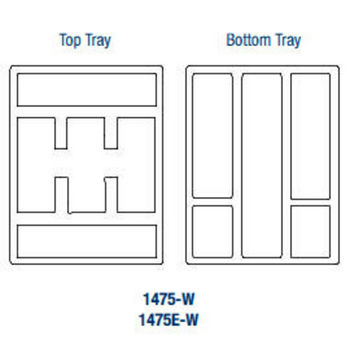Double Tiered Tableware Trays