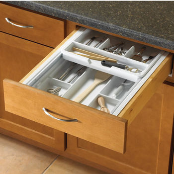 Knape Vogt Double Tiered Kitchen Cutlery Drawer Insert 15 1 4 To 17 3 W