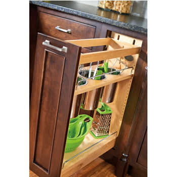Rev-A-Shelf Base Cabinet Pullout Utensil Organizer with Blumotion Soft-Close