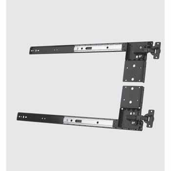 Knape & Vogt Medium Duty 30 lb. Class Pivot Door Slide With Included Hinge Base, Ebony Black
