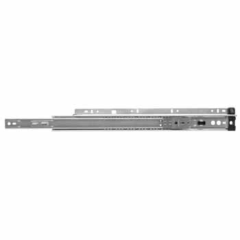 Knape & Vogt Side Mounted 75 lb Ball Bearing, 3/4 Extension Quick Disconnect Rail Drawer Slides in Anochrome Finish