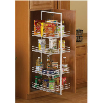 Pantry Pullout Shelves and Baskets View and Reach Items in the