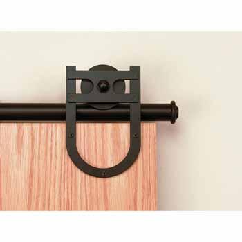 Knape & Vogt Sliding Door Hardware Rushmore Short Bracket Aluminum Round Track Component Kit in Multiple Finishes - Track sold seperately