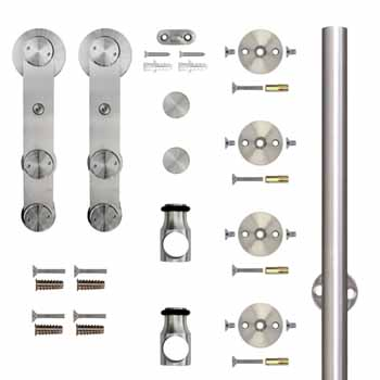 "Knape & Vogt 78-3/4"" Face Mount Strap Stick Kit, Stainless Steel"