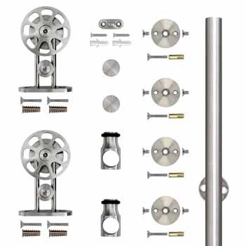 """Knape & Vogt 78-3/4"""" Top Mount Spoke Wheel Kit, Stainless Steel"""