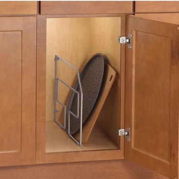 Knape Vogt Frosted Nickel Kitchen Cabinet Tray Divider 7 8 W X 19 1 2 D 18 H