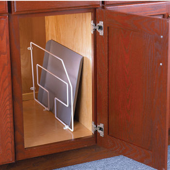 white kitchen cabinet tray divider storage dividers rev a shelf wire with clips wooden