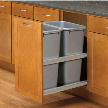 Knape U0026 Vogt Double 50 Quart (12.5 Gallon) Platinum Soft Close, Undermount  Double Waste U0026 Recycling Bins, Min. Cabinet.