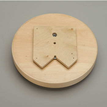 Full Round Banded Wood Single Tray Lazy Susan