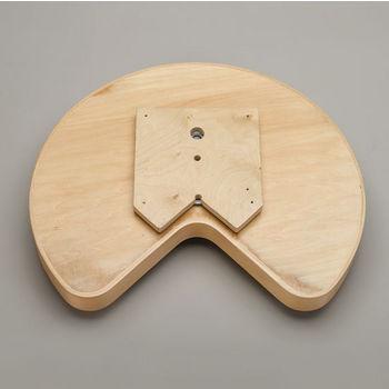 Kidney Natural Wood Lazy Susans w/ Steel Bearing