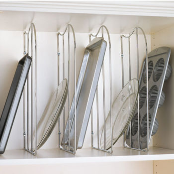 Tray Organizers - Divide your Cookie Sheets, Pots and Pans, Muffin ...