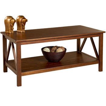 Linon Titian Coffee Table, Antique Tobacco