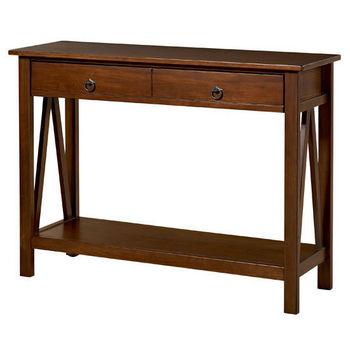 Linon Titian Console Table, Antique Tobacco