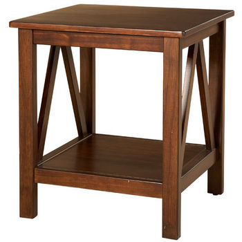 Linon Titian End Table, Antique Tobacco