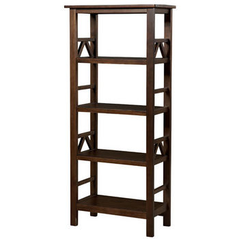 Linon Titian Bookcase, Antique Tobacco