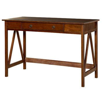 Linon Titian Desk, Antique Tobacco