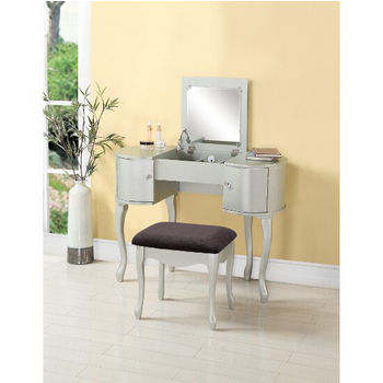 Linon Home Decor Lattice Vanity Set Silver from im-7.eefa.co