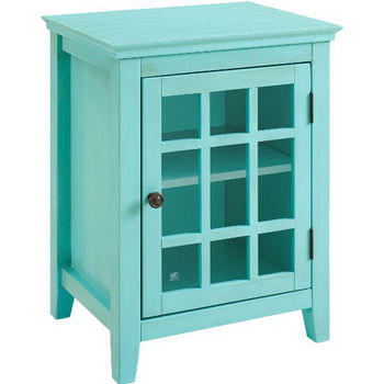 Turquoise Single Door Cabinet Product View