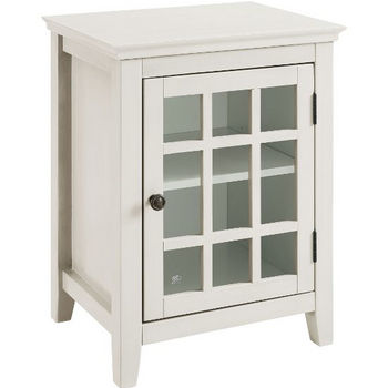 White Single Door Cabinet Product View